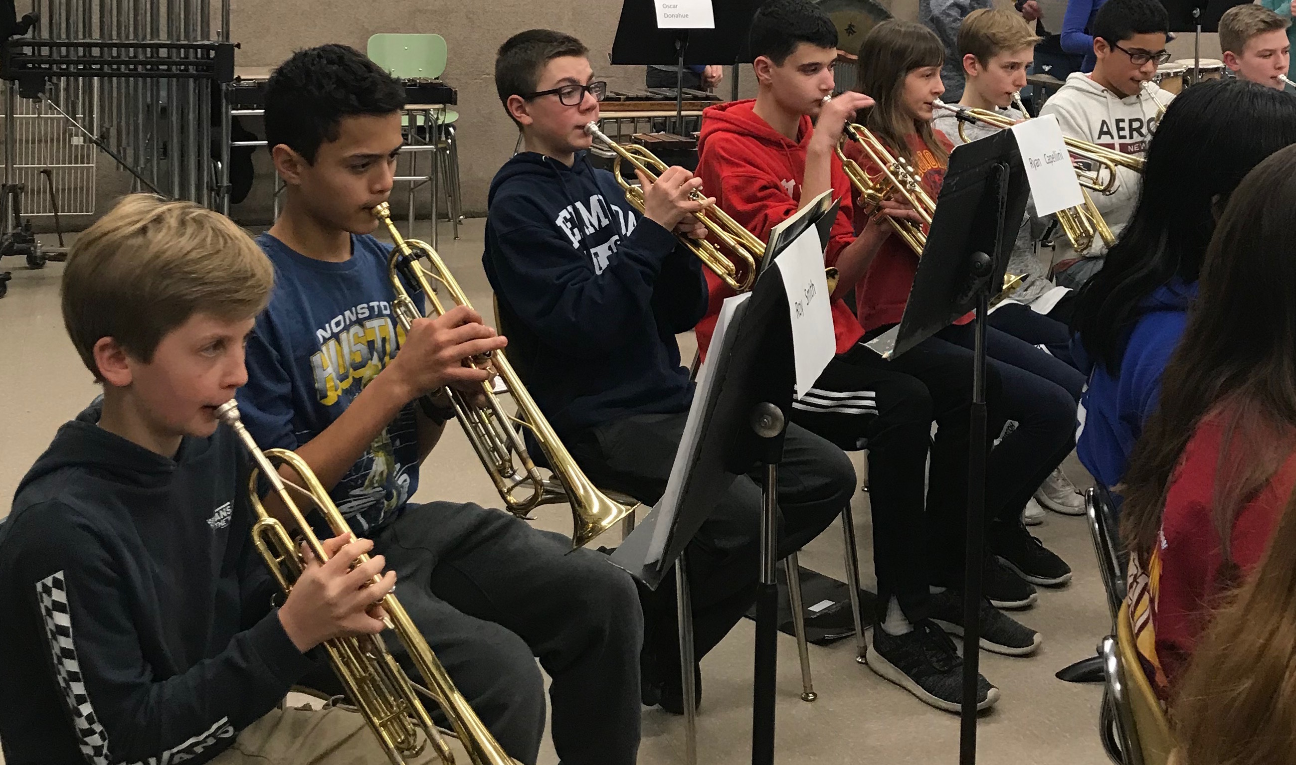 MS Band & Orchestra Students Attend All County 2019