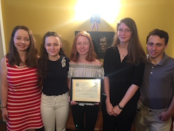 Haldane History Club Honored by Putnam County